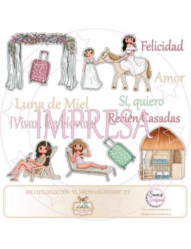 """Die cuts  """"Nuestra boda..."""