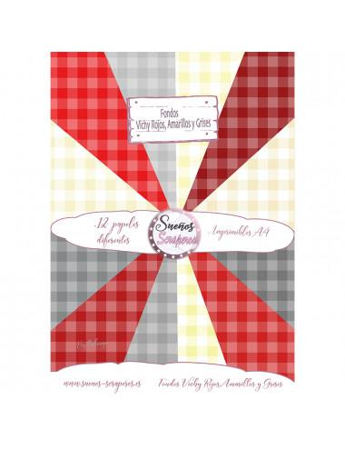 """Fondos """"Vichy Rojo,Amarillo..."""